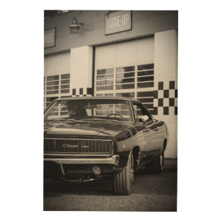 68 Charger Wood Wall Decor