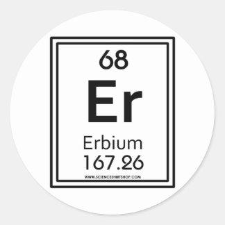 68 Erbium Classic Round Sticker