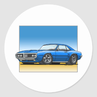 68_Firebird_BLUE Classic Round Sticker