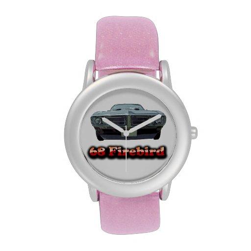 68 Firebird Glitter with Pink Glitter Strap Watch