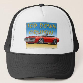 68 Firebird red convertible Trucker Hat