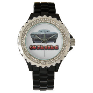 68 Firebird Rhinestone with Black Enamel Watch