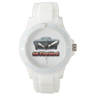 68 Firebird Sporty with White Silicone Strap Watch