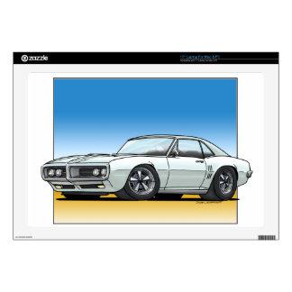 "68_Firebird_WHITE Decals For 17"" Laptops"