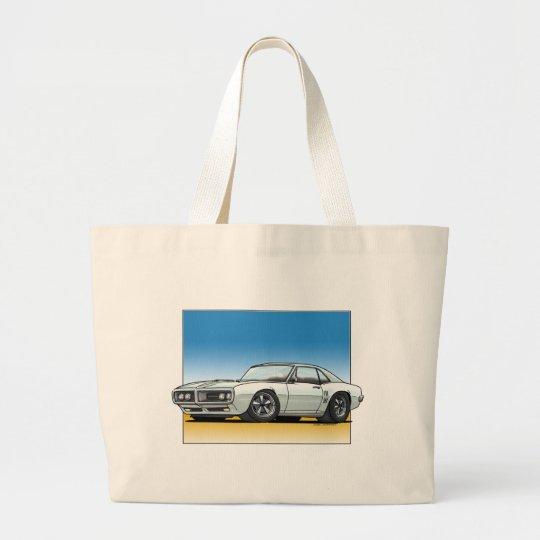 68_Firebird_WHITE Large Tote Bag