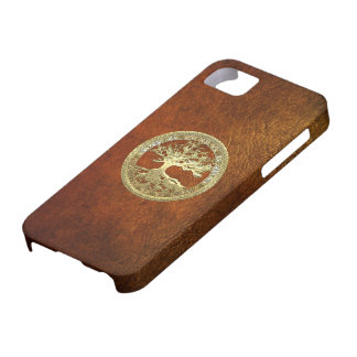 68 Golden Celtic Tree of Life iPhone 5 Cases