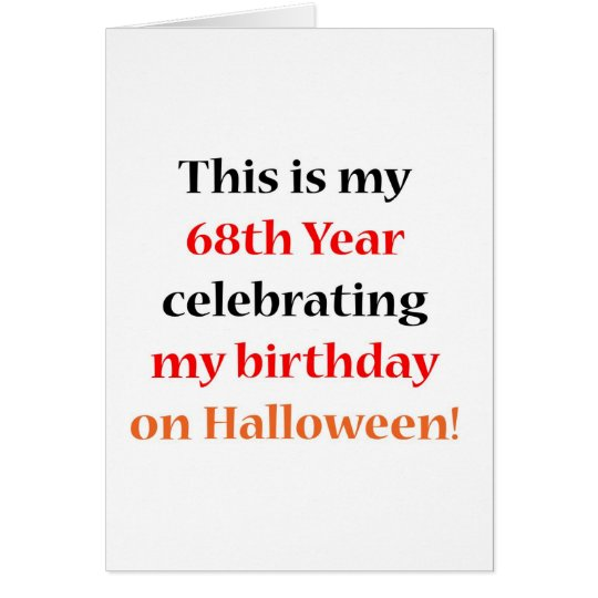 68 Halloween Birthday Card