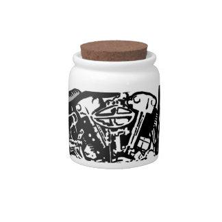68 Knuckle Head Motorcycle Candy Jar