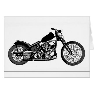 68 Knuckle Head Motorcycle Card