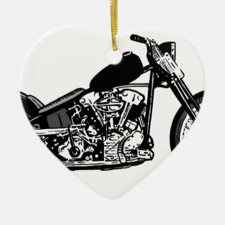 68 Knuckle Head Motorcycle Ceramic Ornament