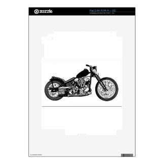 68 Knuckle Head Motorcycle iPad 2 Decals