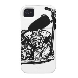 68 Knuckle Head Motorcycle iPhone 4 Cases