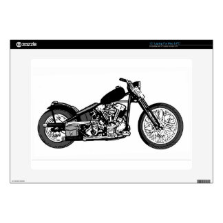 68 Knuckle Head Motorcycle Laptop Decal