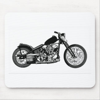 68 Knuckle Head Motorcycle Mouse Pad