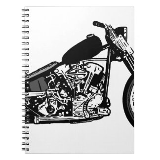 68 Knuckle Head Motorcycle Spiral Note Book