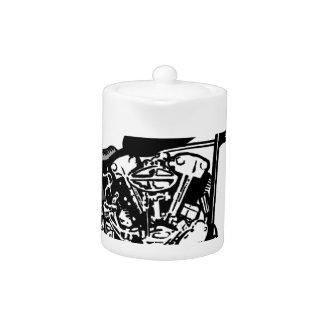 68 Knuckle Head Motorcycle Teapot
