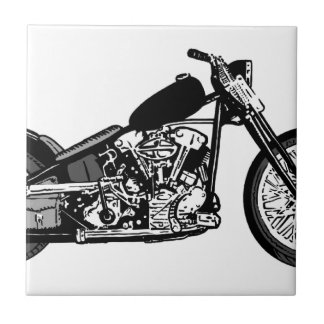 68 Knuckle Head Motorcycle Tile