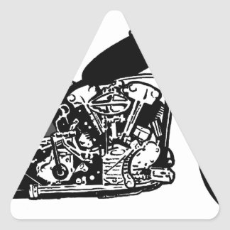 68 Knuckle Head Motorcycle Triangle Sticker