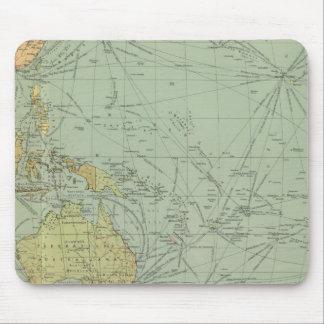 68 líneas de comunicación, el Océano Índico Mousepad