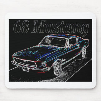 68 mustang mouse pad