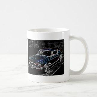 68 mustang classic white coffee mug