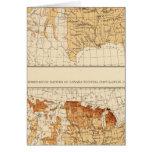 68 naturales Canadá 1900 Tarjeta