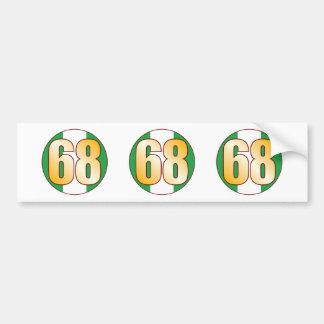 68 NIGERIA Gold Bumper Sticker