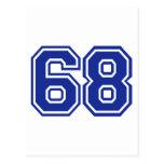 68 - number postcard