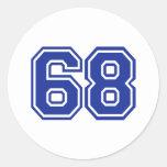 68 - number sticker