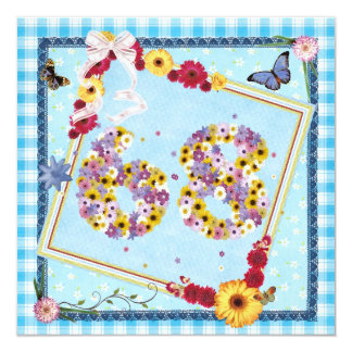 68.o Flores de la invitación de la fiesta de