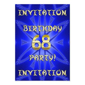 68.o Invitación de la fiesta de cumpleaños