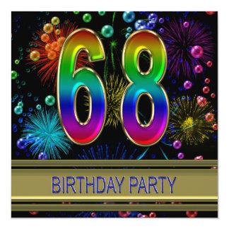 68.o Invitación de la fiesta de cumpleaños con las
