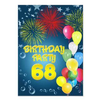 68.o Invitación de la fiesta de cumpleaños con los