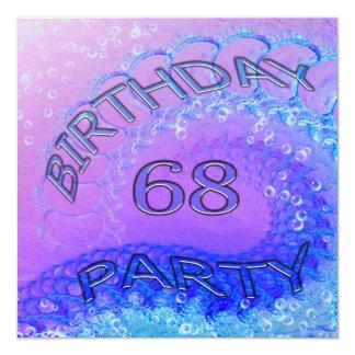 """68.o Invitación, extracto y bubb de la fiesta de Invitación 5.25"""" X 5.25"""""""
