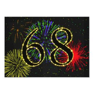 """68.o invitate de la fiesta de cumpleaños invitación 5"""" x 7"""""""