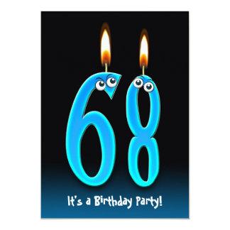 """68.o La fiesta de cumpleaños invita Invitación 5"""" X 7"""""""