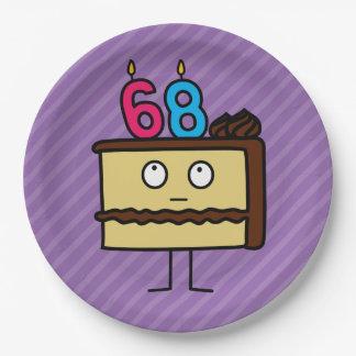 68.o Torta de cumpleaños con las velas Platos De Papel