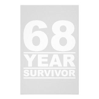 68 year survivor stationery