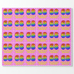 [ Thumbnail: 68th Birthday: Pink Stripes & Hearts, Rainbow # 68 Wrapping Paper ]