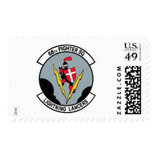 68th Fighter Squadron Lighting Lancers Postage Stamp