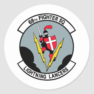 68th Fighter Squadron Lighting Lancers Classic Round Sticker