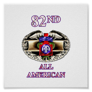 68W 82nd Airborne Division Poster