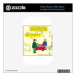 690 no caben en dibujo animado del coche iPod touch 4G calcomanía