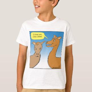 691 Llucy Llama cartoon T-Shirt