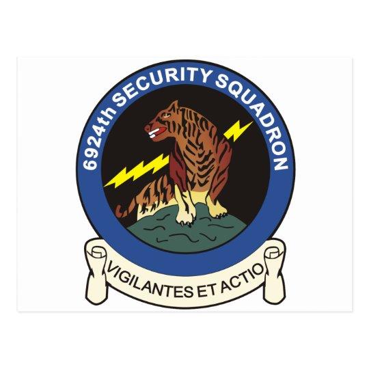 6924th Security Squadron Postcard