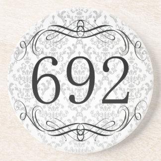 692 Area Code Beverage Coasters