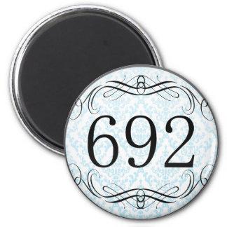 692 Area Code Fridge Magnet