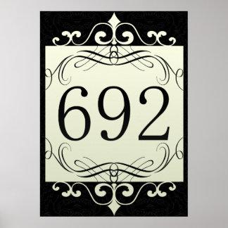 692 Area Code Print