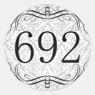 692 Area Code Stickers