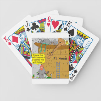 692 Noah washs ark cartoon Bicycle Playing Cards